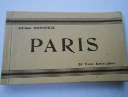 PARIS - CARNET 24 Vues Artistiques- - Autres