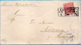 Ebstorf - Brief 1894 Gelaufen Nach Elsterberg - Deutschland