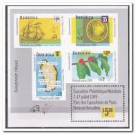 Dominica 1989, Postfris MNH, Ship, Plants, Map - Dominica (1978-...)