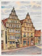 BAD SALZUFLEN - ALLEMAGNE - Carte COLORISEE - Alte Giebelhauser Am Markt - VAN - - Duitsland