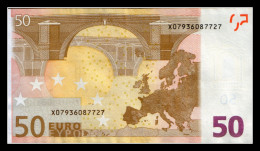 """50 EURO """"X"""" GERMANY FIRMADUINSBERG R015  AUNC SEE SCAN!!!!! - EURO"""