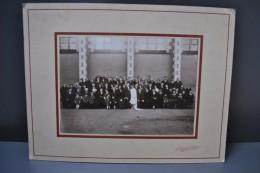 Photographie Mariage Anjou Saint Lambert Du Lattay N°1 Circa 1920 Costumes Et Coiffes Grand Format Contrecollée/carton - Otros