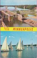 Usa °° Minnesota - Minneapolis - Fort Bridge And Lake Calhoun - 9x14 - écrite ° T-P - Minneapolis