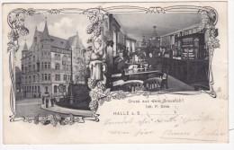 Halle A.S. Gruss Aus Dem Braustüb'l 1905 Gel. M.Marke - Halle (Saale)