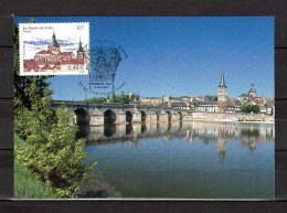 """FRANCE 2002 : Carte Maximum N° YT 3478 """" LA CHARITE SUR LOIRE / PONT """". Parfait état. CM - Brücken"""