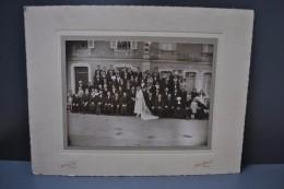 Photographie Mariage Anjou Photographe Boulan à Baugé Circa 1920 Costumes Et Coiffes Grand Format Contrecollée/carton - Otros