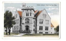 (7153-00) Wis - Public Library Fond Du Lac - Etats-Unis