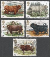 Great Britain. 1984 British Cattle. Used Complete Set. SG 1240-1244 - 1952-.... (Elizabeth II)
