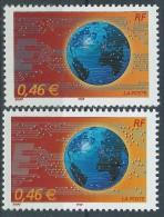 [12] Variété : N° 3532 Le Monde En Réseau Circuits Intégré Blanc (sans Le Gris-bleu)  + Normal ** - Varieteiten: 2000-09 Postfris
