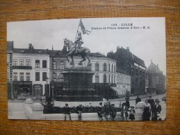 """Lille ,  Statue Et Place Jeanne D'arc  """""""" Carte Animée """""""" - Lille"""