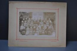 Photographie Ancienne Groupe Scolaire Classe Des Filles Ecole Primaire Melay (Chemillé - Maine Et Loire) - Otros