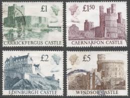 Great Britain. 1988 Castles. High Values. Used Complete Set SG 1410-1413. - 1952-.... (Elizabeth II)