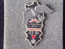 """Insignes Militaire """"23ème Régiment D'Infanterie """"ENGINEER REGIMENT """" - Armée De Terre"""