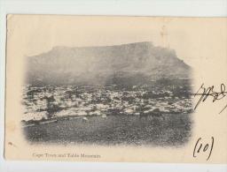 DE962-SÜD AFRIKA-AK CAPE TOWN And TABLE BERG-Gel.-Franked CPAE GOOD HOPE Marken 2 1/2 D. - Südafrika