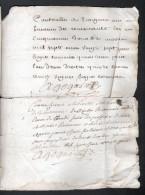 1727, GENERALITE DE BOURGES, UN SOL, 4 DENIERS, 4 FEUILLES, 3 SCANS - Cachets Généralité