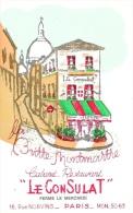 """La Butte Montmartre - Cabaret Restaurant """"Le Consulat"""" - Illustration - Carte Non Circulée - Restaurants"""