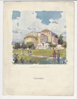 Menù Del 1931 Piroscafo Colombo - Splendida Litografia Chiesa Di San Saturnino A Cagliari Sardegna + Costume Sardo - Unclassified