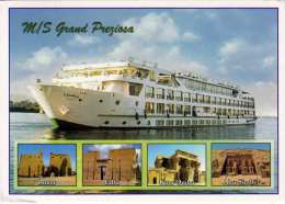 MS Grand Preziosa - Egypt, Karte Gel., Sondermarke - Ägypten