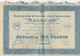 Rare ! 1928 - MALLCAP - Manufacture De Feutres Pour Chapellerie+ 39/40 Coupons - - Textile
