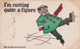 Humour Man Ice Skating I'm Cutting Quite A Figure 1909 - Eiskunstlauf