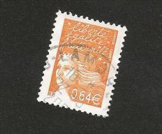 N° 3452 Marianne De Luquet 0,64 € Orange Foncé  Oblitéré Timbre France 2002 - France