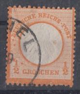 DR Minr.14 Gestempelt Plf.V Und Punkt Am G Von Groschen - Deutschland