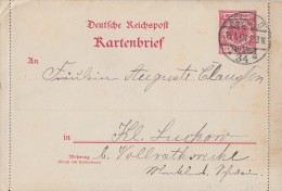 DR Ganzsache Minr.K6 Berlin 15.1.01 - Deutschland
