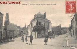 LIMAY RUE DE L'EGLISE ET RUE NATIONALE ANIMEE 78 - Limay