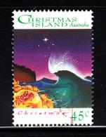 Christmas Island Used Scott #355 45c Crabs, Wave - Christmas - Christmas Island