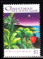 Christmas Island Used Scott #356 $1 Frigatebird, Rainforest - Christmas - Christmas Island