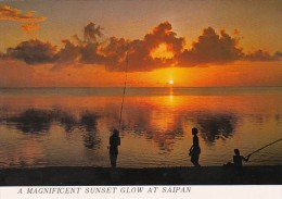 Saipan Magnificent Sunset Glow On The Beach - Mariannes