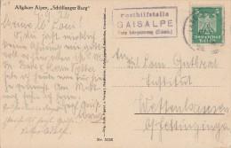 DR AK EF Minr.356 Mit Posthilfsstempel Gaisalpe 4.9.26 - Deutschland