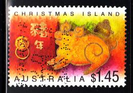 Christmas Island Used Scott #461 $1.45 Boar Facing Left - Lunar New Year Year Of The Boar - Christmas Island