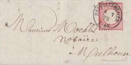 DR Brief EF Minr.19 Rappoltsweiler8.7.73 Gel. Nach Mülhausen Hufeisenstempel - Deutschland
