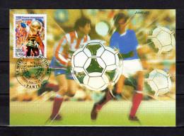 """FRANCE 2000 : Carte Maximum N° YT 3314 """" LA FRANCE CHAMPIONNE DU MONDE DE FOOTBALL """". Parfait état CM"""