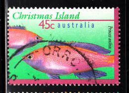 Christmas Island Used Scott #383 45c Princess Anthias - Christmas Island