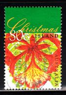Christmas Island Used Scott #414 80c Flame Tree - Tree Flowers Of Christmas - Christmas Island