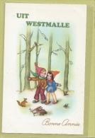 WESTMALLE: BONNE ANNEE OF GELUKKIG NIEUWJAAR , - Malle