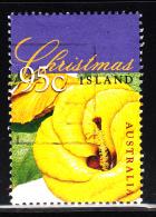 Christmas Island Used Scott #415 95c Sea Hibiscus - Tree Flowers Of Christmas - Christmas Island