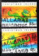Christmas Island Used Scott #425-#426 Set Of 2 Lunar New Year Year Of The Dragon - Christmas Island
