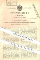 Original Patent - Franz Knipping , Berlin , 1905 , Pasteurisieren Von Bier U. A. Gashaltigen Flüssigkeiten , Kohlensäure - Historische Dokumente