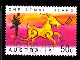 Christmas Island Used Scott #440 50c Ram - Lunar New Year Year Of The Ram - Christmas Island