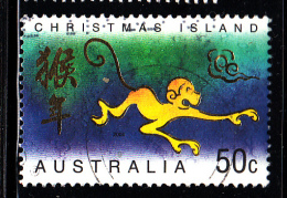 Christmas Island Used Scott #445 50c Monkey - Lunar New Year Year Of The Monkey - Christmas Island