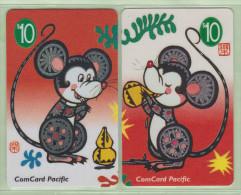 Nauru - 1995 Year Of The Rat Set (2) - NAU-5/6 - Mint - Nauru