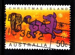 Christmas Island Used Scott #454 50c Dog - Lunar New Year Year Of The Dog - Christmas Island
