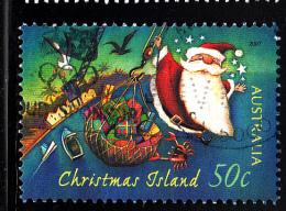 Christmas Island Used Scott #465 50c Santa Hoisted By Crane - Christmas - Christmas Island