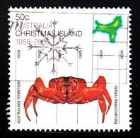 Christmas Island Used Scott #470a 50c Crab - 50th Anniversary Territorial Status - Christmas Island