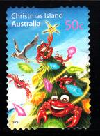Christmas Island Used Scott #475 50c Crabs, Tree - Christmas - Booklet Stamp - Christmas Island