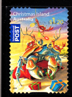 Christmas Island Used Scott #476 $1.20 Crabs, Lights - Christmas - Booklet Stamp - Christmas Island