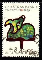 Christmas Island Used Scott #479 55c Ox - Lunar New Year Year Of The Ox - Christmas Island